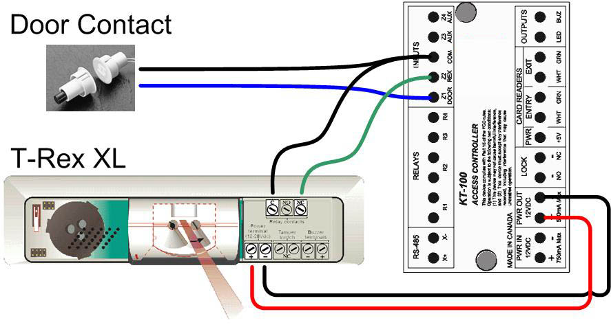 KT 100_Hook_up_TREX rex & contact kantech wiring diagram at bakdesigns.co