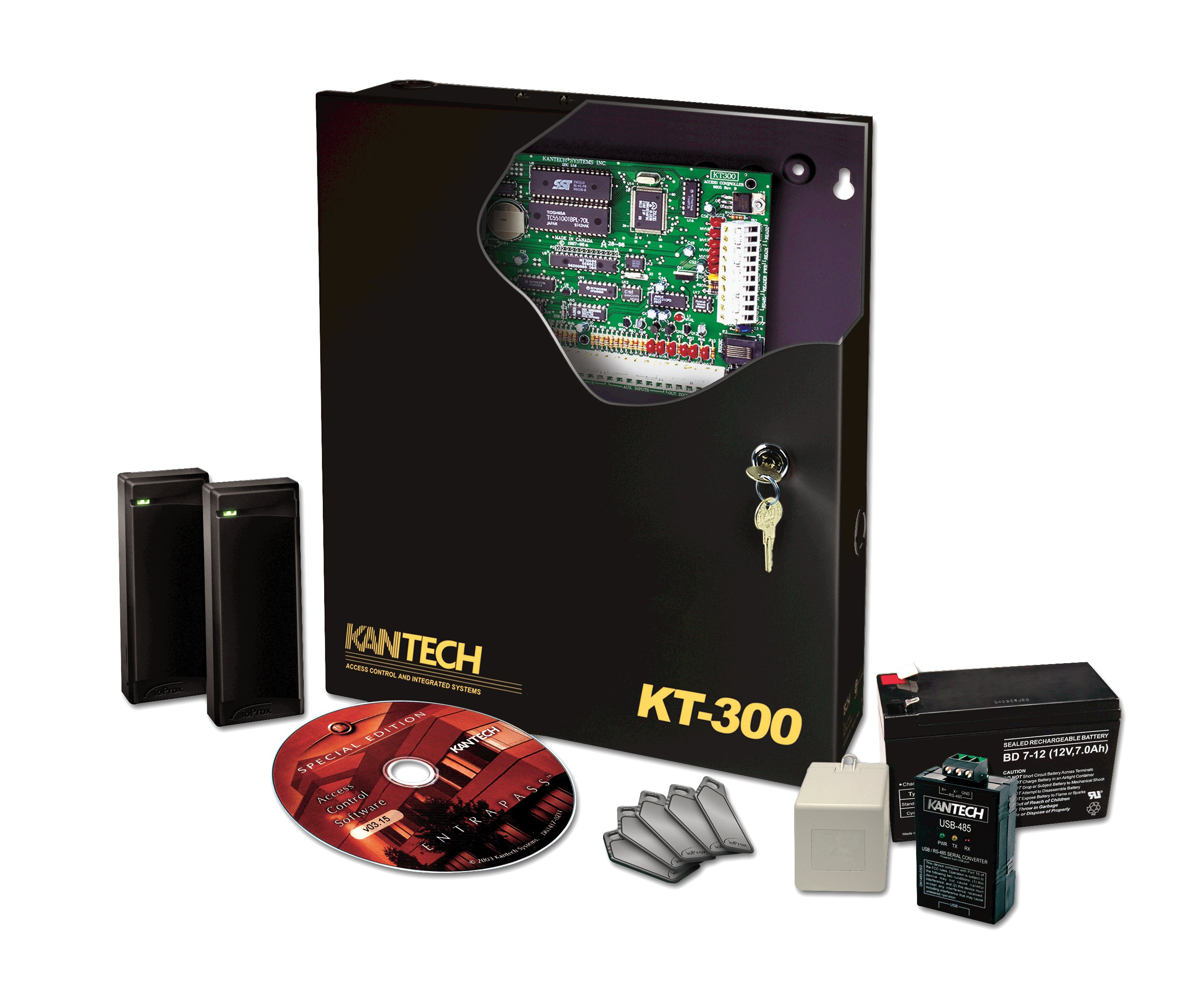 KT 300_Starter_Kit starter kit kantech wiring diagram at bakdesigns.co