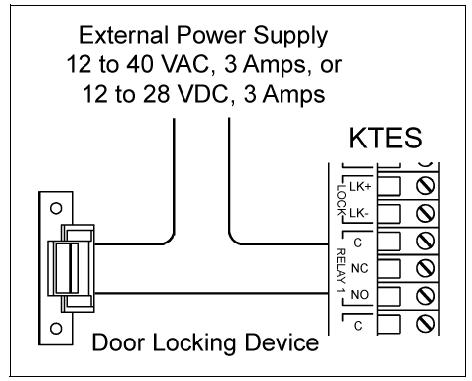 KTES Relay Strike door strikes kantech wiring diagram at bakdesigns.co